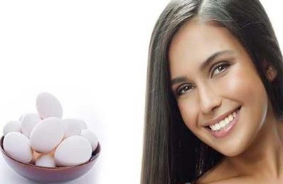 قناع بياض البيض للشعر المتقصف